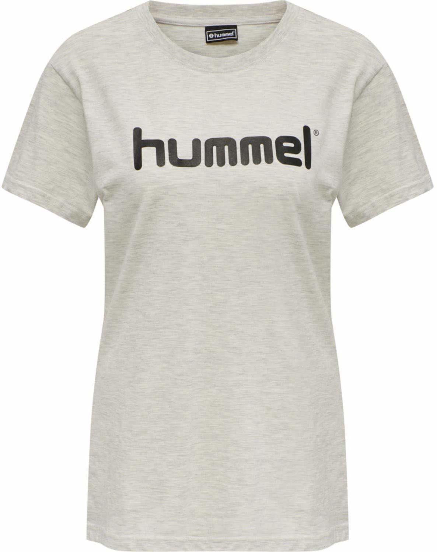 Hummel Damska koszulka Hmlgo Cotton Logo T-shirt Woman S/S Egret Melange XL
