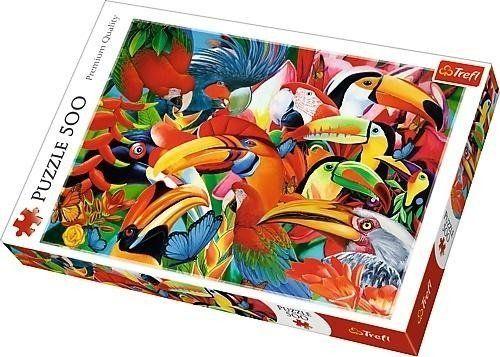 Puzzle 500 Kolorowe ptaki TREFL