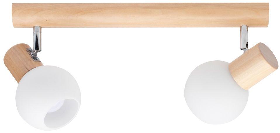 Spot Light 2231260 Karin spot brzoza klosze szkło biały 2xE14 40W 37cm