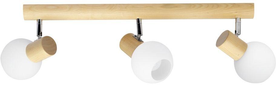 Spot Light 2231360 Karin listwa oświetleniowa brzoza klosze kule szkło biały 3xE14 40W 52cm