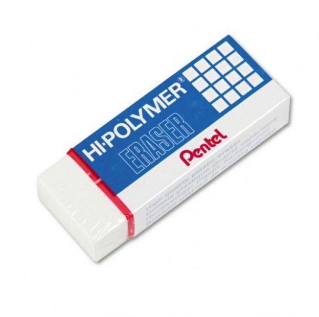 Gumka ołówkowa PENTEL Hi-Polymer Eraser (mała) (ZEH05)