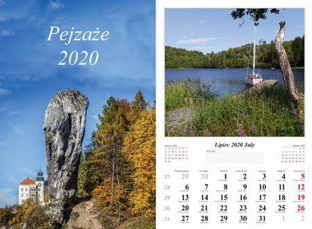 Kalendarz 2020 wieloplanszowy Pejzaże