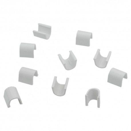 10szt Złączka prosta do rynienek ochronnych na kable blister Cablefix 2200 biały 5,5x5mm Inofix 0123