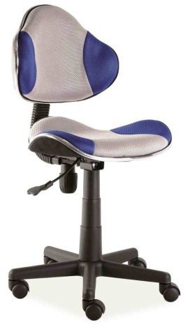 Fotel dziecięcy Q-G2 niebieski/szary