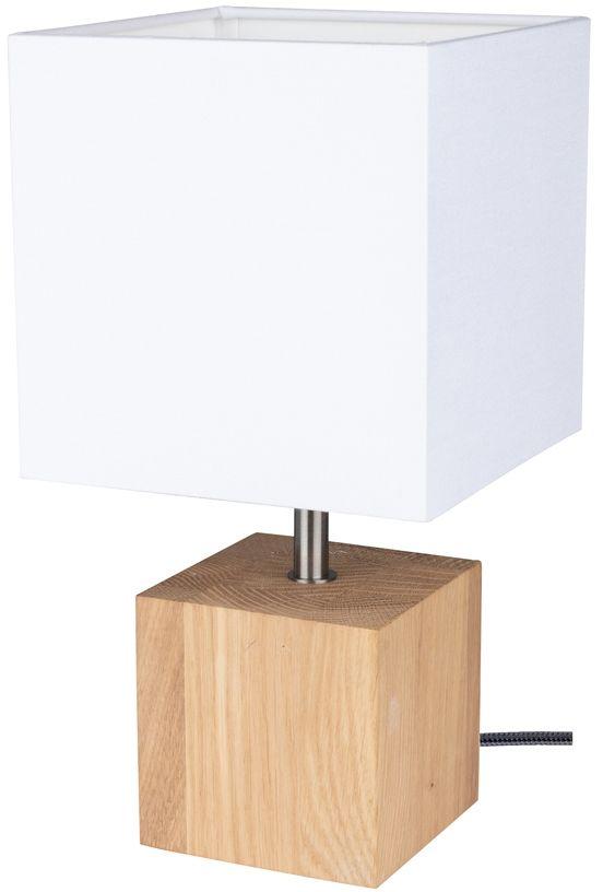 Spot Light 7191174 Trongo Square lampa stołowa dąb olejowany/antracyt abażur tkanina biały 1xE27 25W 30cm