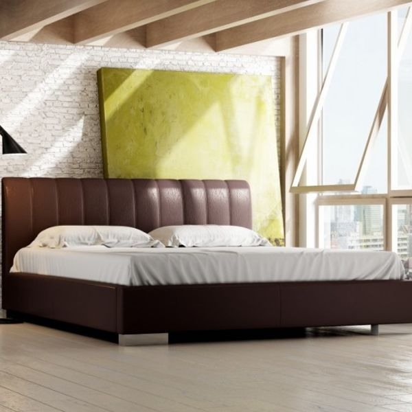 Łóżko NAOMI LUX NEW DESIGN tapicerowane, Rozmiar: 200x200, Tkanina: Grupa II, Pojemnik: Bez pojemnika Darmowa dostawa, Wiele produktów dostępnych od ręki!