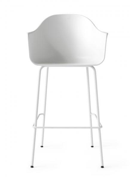 Menu HARBOUR Krzesło Barowe 112 cm Hoker Jasnoszary - Siedzisko Białe
