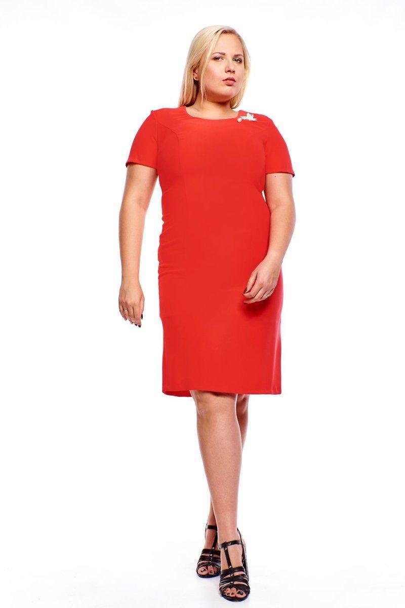 Sukienki,Sukienka FSU1005 MALINOWY