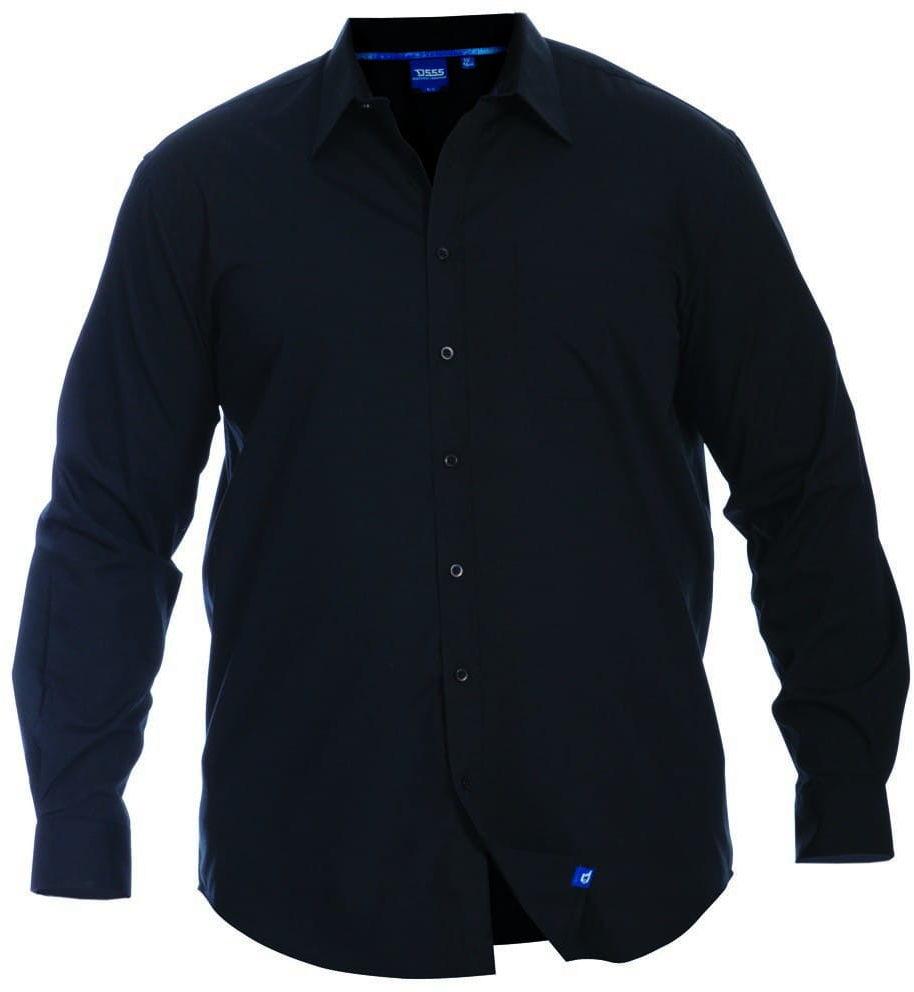 CORBIN-D555 Koszula Czarna Duże Rozmiary
