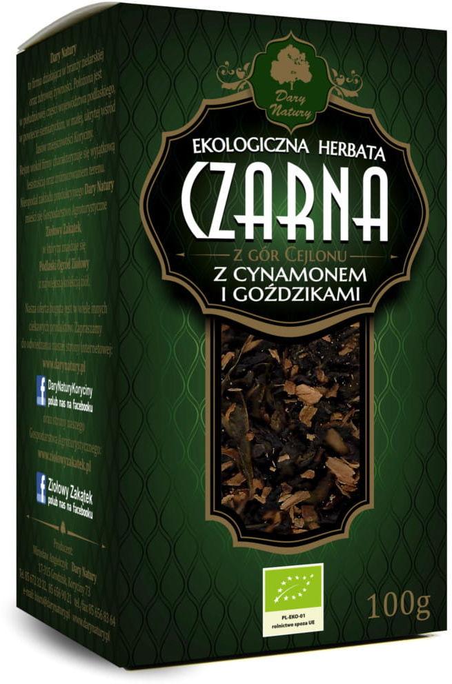 Herbata czarna z cynamonem i goździkami bio 100 g - dary natury