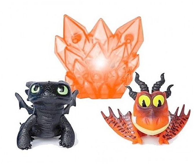 Spin Master Dragon - Jak wytresować smoka ? Figurki Bioluminescencyjne Szczerbatek i Hakokieł 20109067