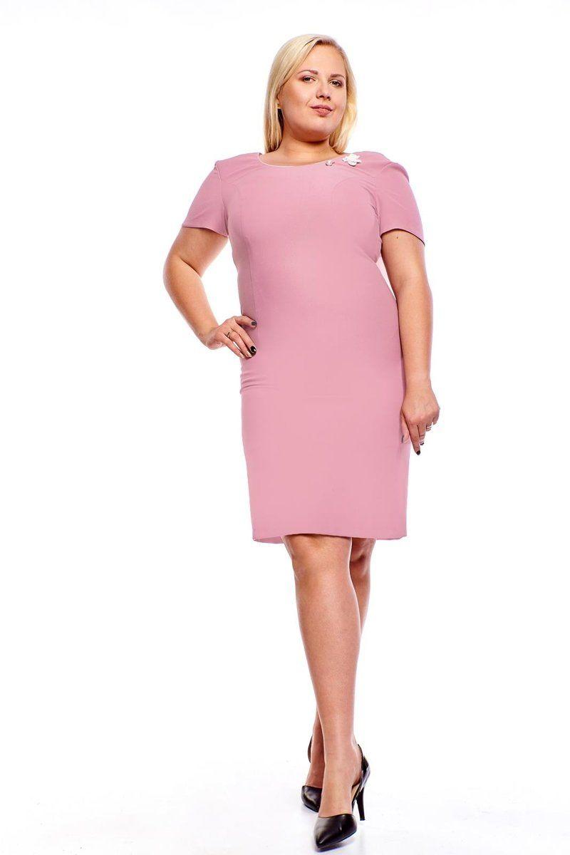 Sukienki,Sukienka FSU1005 RÓŻOWY