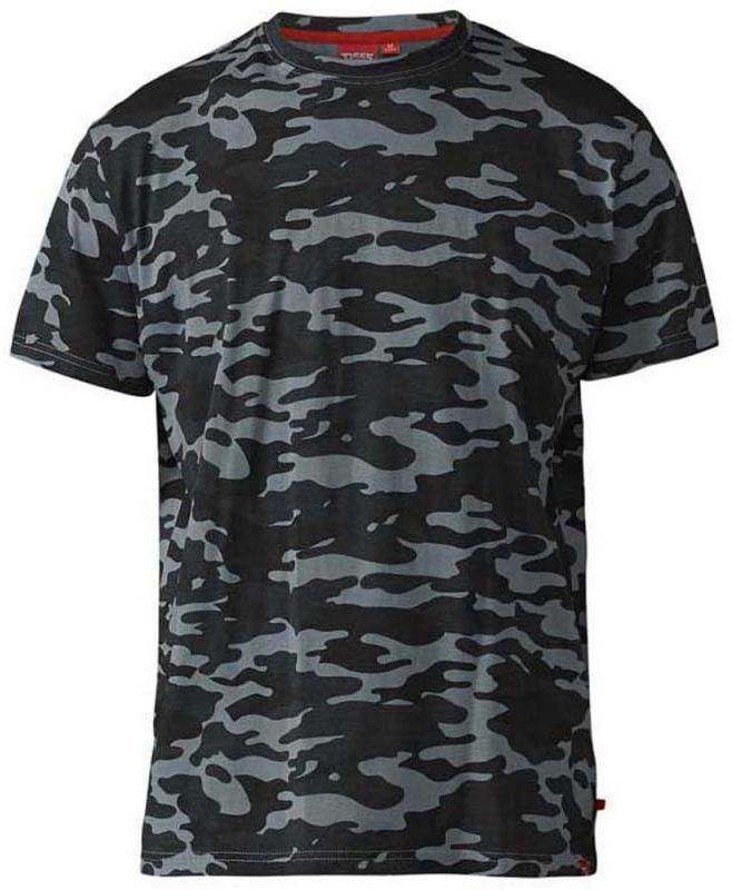 GASTON-D555 T-shirt Szary Duże Rozmiary