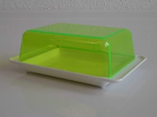 Kimmel Pojemnik na masło, tworzywo sztuczne, biały/przezroczysty zielony