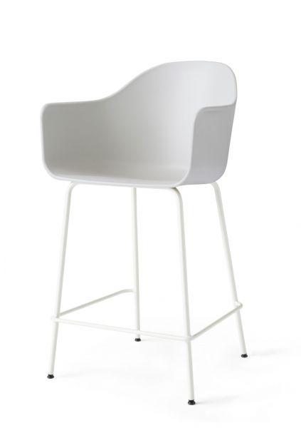 Menu HARBOUR Krzesło Barowe 102 cm Hoker Jasnoszary - Siedzisko Jasnoszare