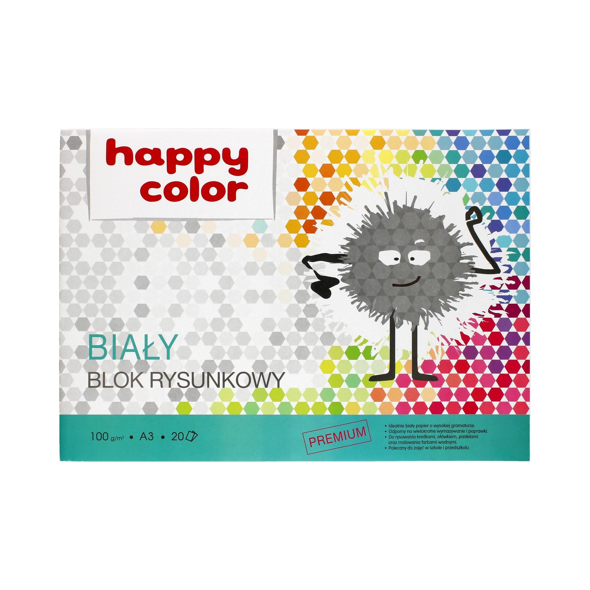 Blok rysunkowy A3/20 biały Happy Color