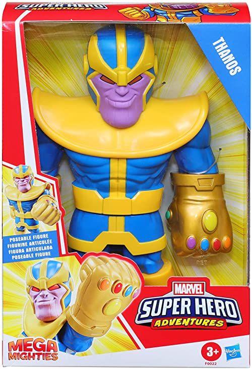 Playskool Heroes Mega Mighties Marvel Super Hero Adventures Thanos, kolekcjonerska figurka 25 cm, zabawki dla dzieci w wieku od 3 lat