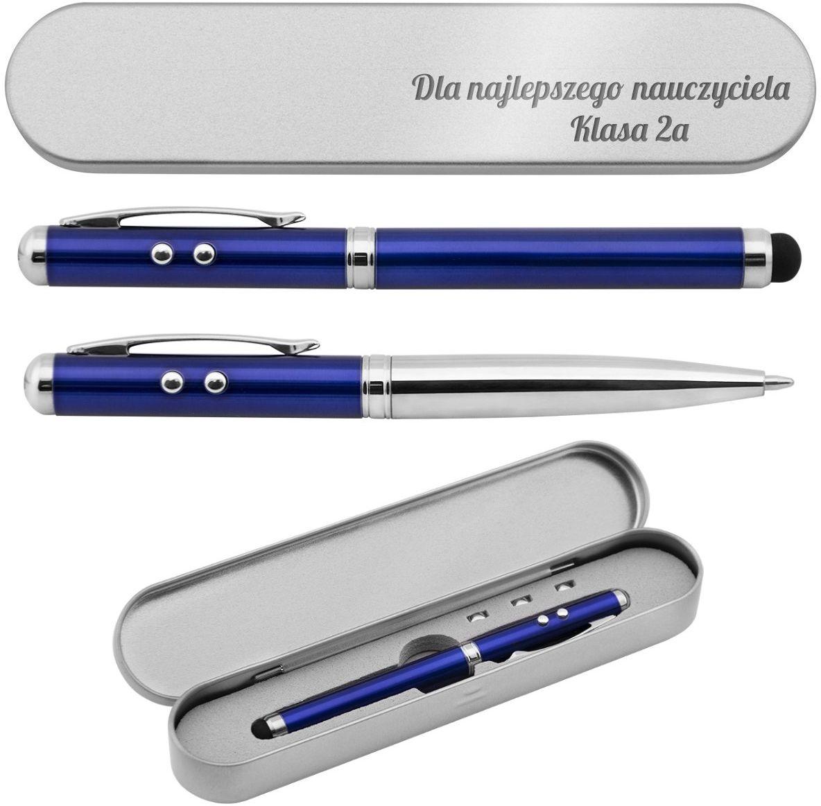 Długopis ze wskaźnikiem laserowym Supreme 4 w 1 Grawer