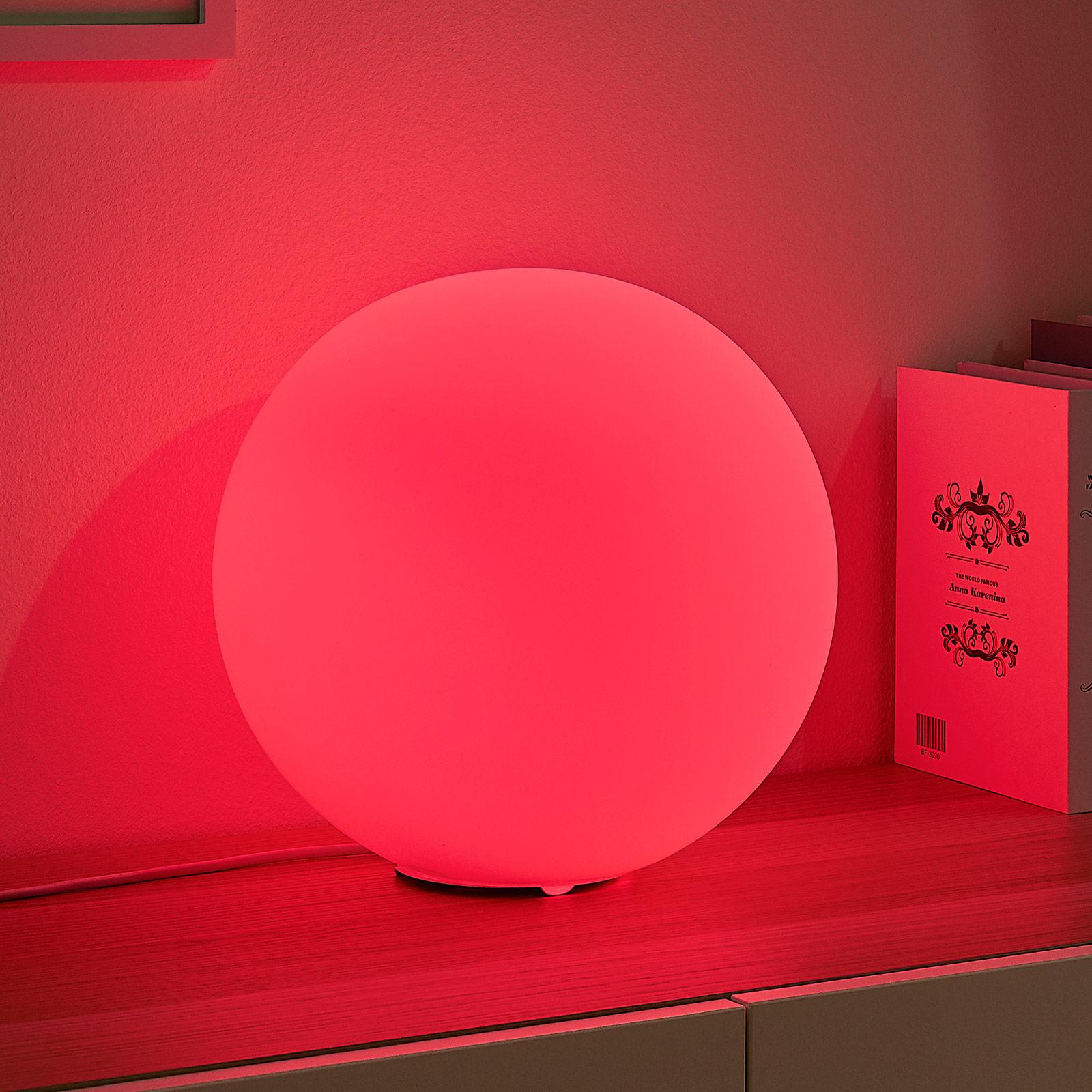 Lindby Smart lampa stołowa LED RGB Rhona, kula