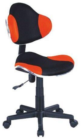 Fotel dziecięcy Q-G2 czarny/pomarańczowy