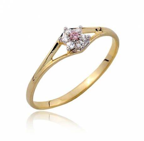 Złoty pierścionek P1802