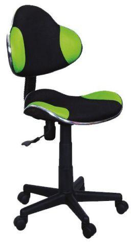 Fotel dziecięcy Q-G2 czarny/zielony
