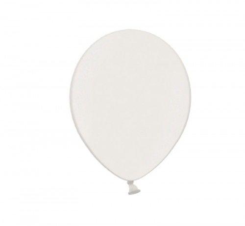 """Balon 5"""" biały, metaliczny"""