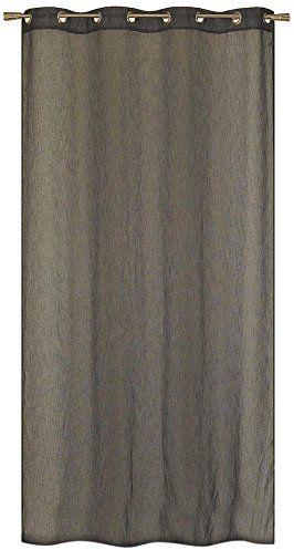 HomeMaison Zasłona o wyglądzie lnu, poliester, antracyt, 240 x 140 cm