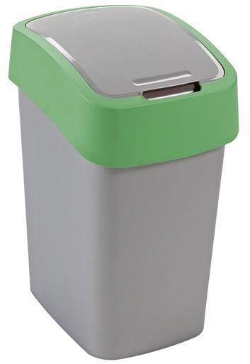 Kosz na śmieci 25L Flip Bin srebrny/zielony