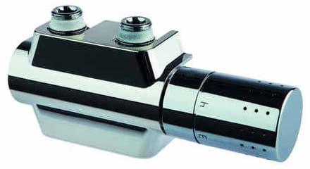 Zawór z głowicą termostatyczną G1/2  lub G3/4 prawo lub lewostronna,CHROM Universal