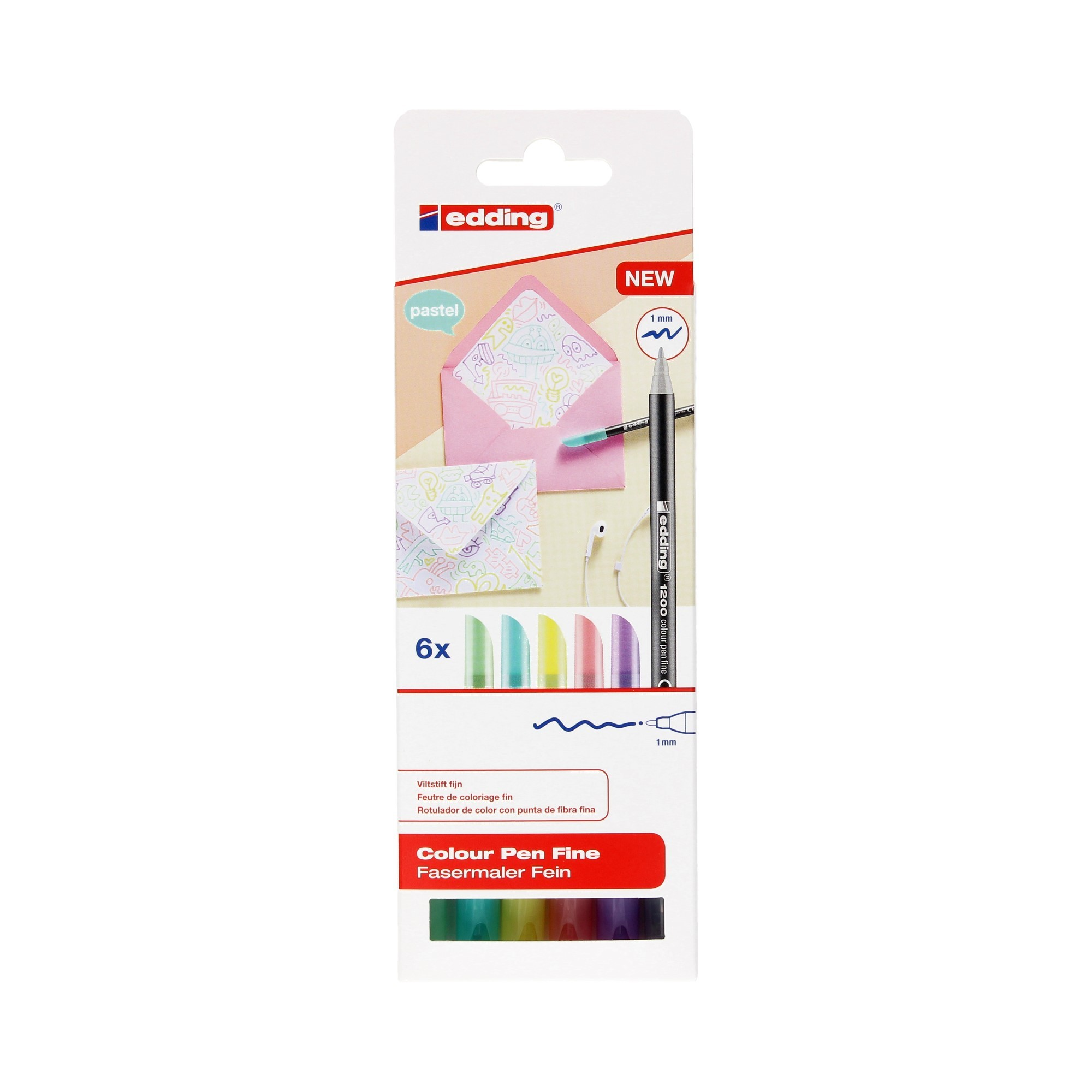 Pisaki artystyczne 6kol pastel Edding 1200/6S