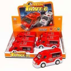Samochód plastikowy Straż ambulans +dźwięk, światło 17cm