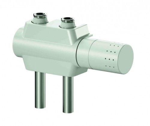 Zawór z głowicą termostatyczną G1/2  lub G3/4 prawo lub lewostronna,BIAŁY Universal