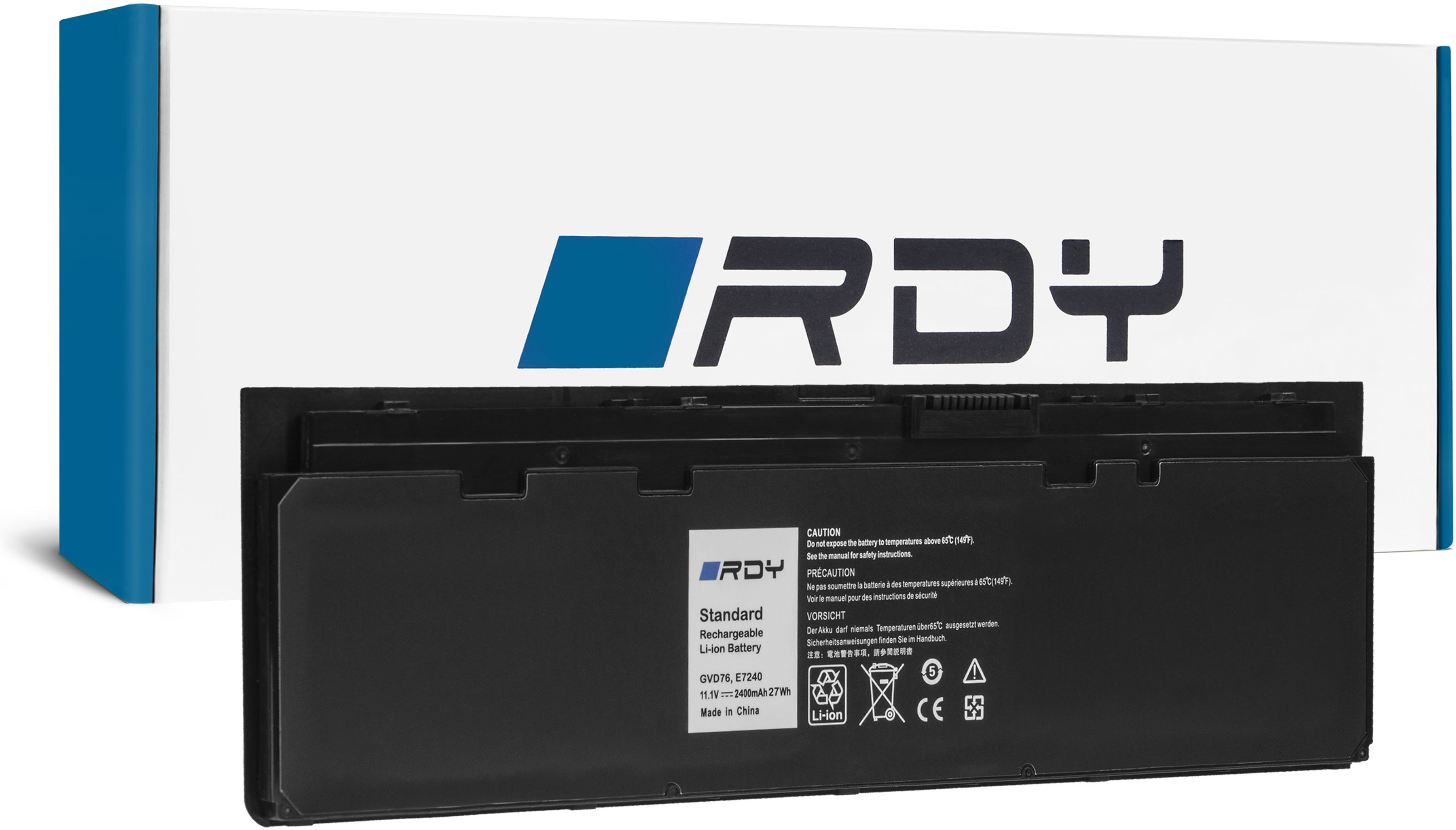 Bateria RDY WD52H GVD76 do Dell Latitude E7240 E7250
