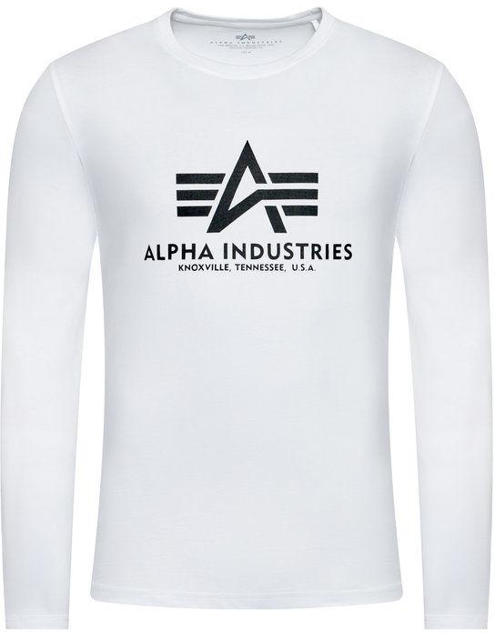 Alpha Industries Longsleeve Basic T 100510 Biały Regular Fit