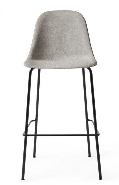 Menu HARBOUR SIDE Krzesło Barowe 112 cm Hoker Czarny - Siedzisko Tapicerowane Szare