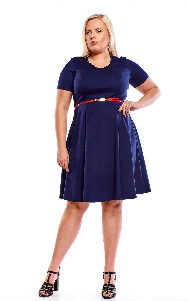 Sukienki Sukienka Suknie FSU1006 GRANATOWY