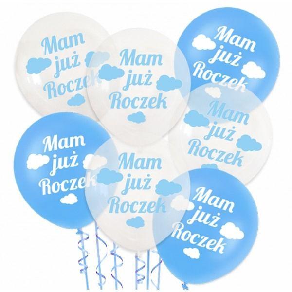 Zestaw balonów na Roczek chłopca 20 sztuk ZB12