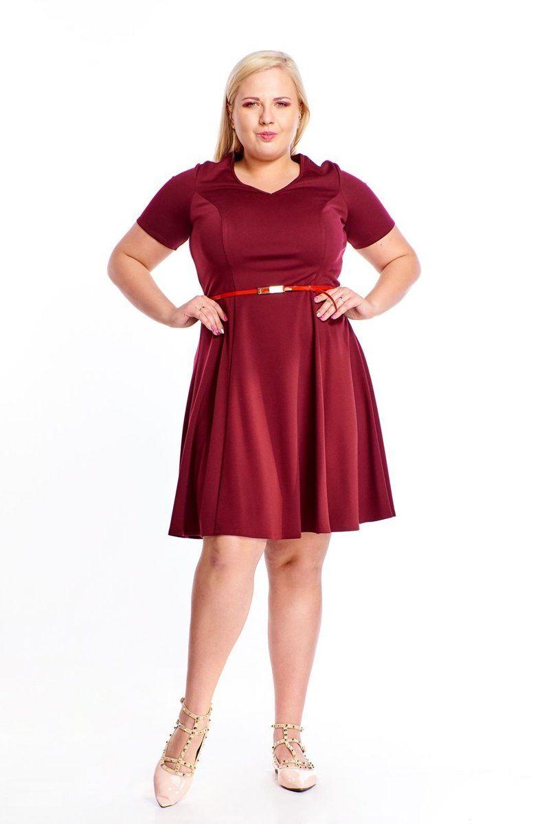 Sukienka FSU1006 BORDOWY
