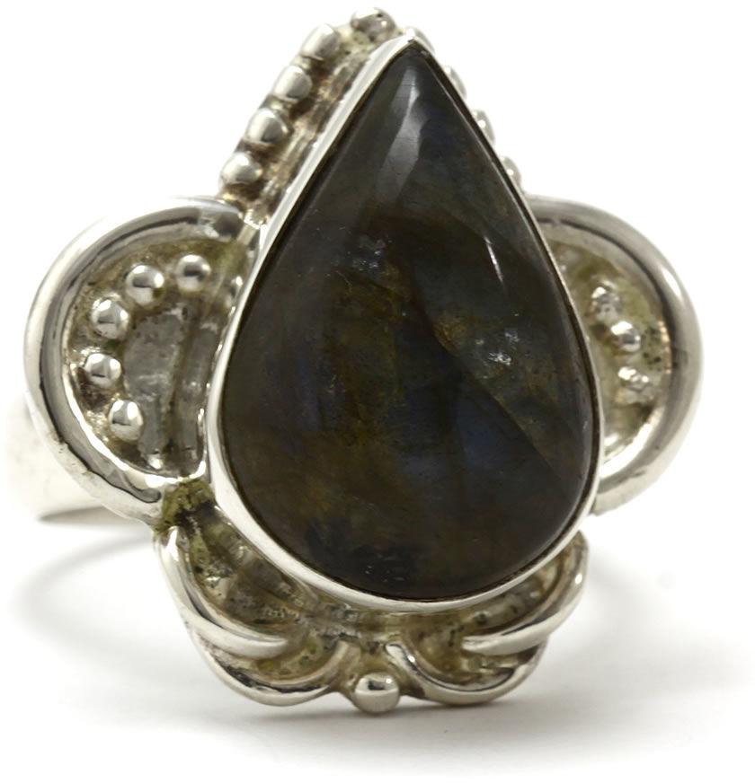 Kuźnia Srebra - Pierścionek srebrny, rozm. 19, Labradoryt, 12g, model