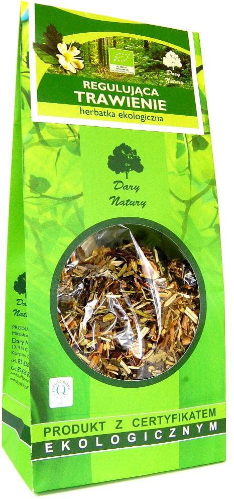 Herbatka regulująca trawienie bio 150 g - dary natury