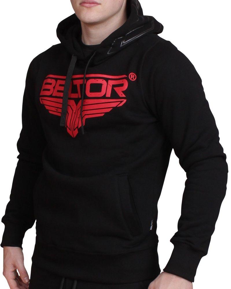 Beltor bluza z kapturem Zip Hoodie Red Logo czarna