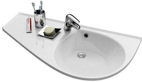 Ravak Avocado Comfort umywalka 950x530 lewa z otworem na baterię XJ9L1100000