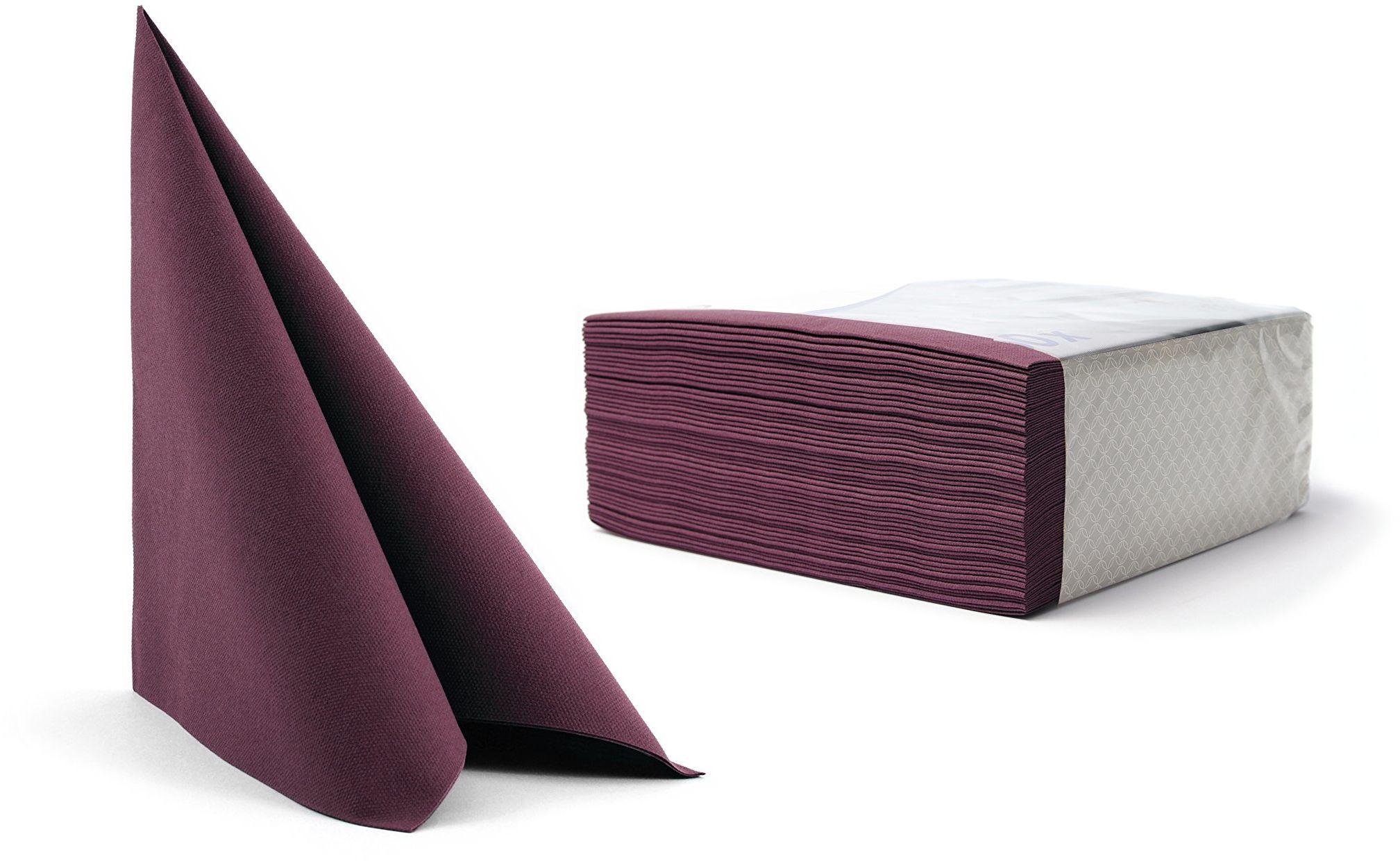 Alvotex CHIC Airlaid 50 serwetek, podobny do materiału, wysokiej jakości, serwetki jednorazowe, fioletowe, 40 x 40 cm