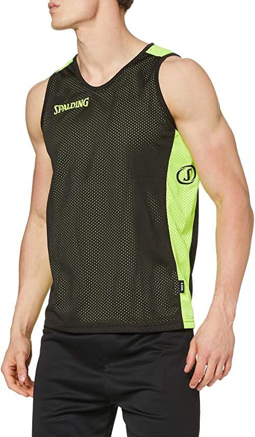 Spalding Odzież Teamsport Essential dwustronna koszulka wielokolorowa czarny/żółty neonowy XXS
