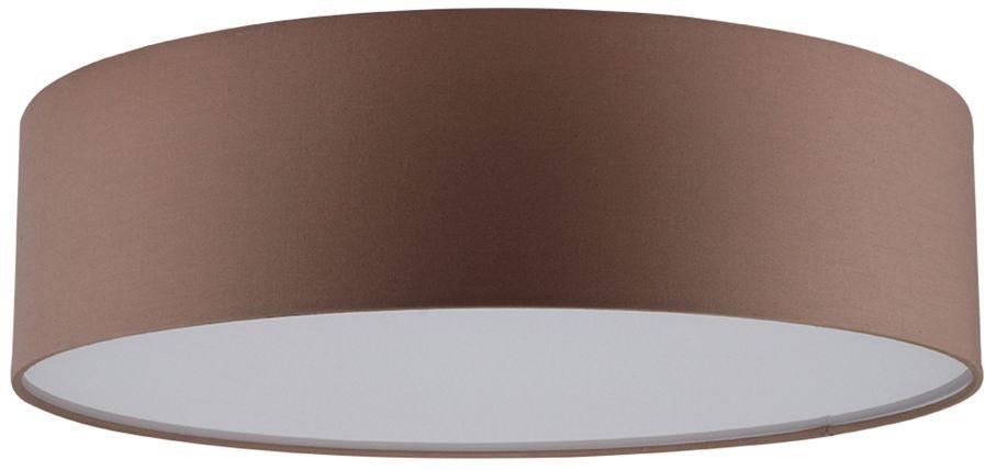 Spot Light 4793812 Josefina plafon lampa sufitowa abażur tkanina brązowy/biały akryl 3xE27 25W 38cm