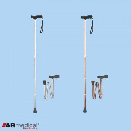 Laska inwalidzka aluminiowa - składana AR-015