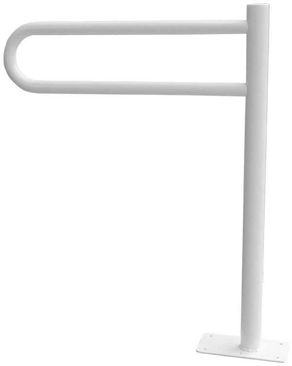 Uchwyt dla niepełnosprawnych stały mocowany do podłogi  32 60 x 80 cm stal biała