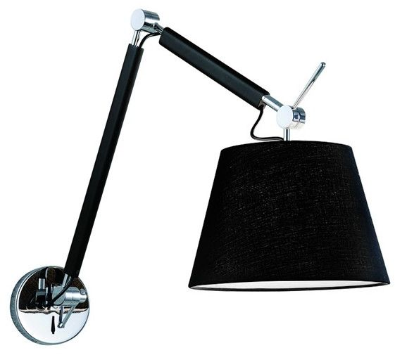 Kinkiet ZYTA WALL S BLACK AZ1844 + AZ2597 - AZzardo - Zapytaj o kupon rabatowy lub LEDY gratis