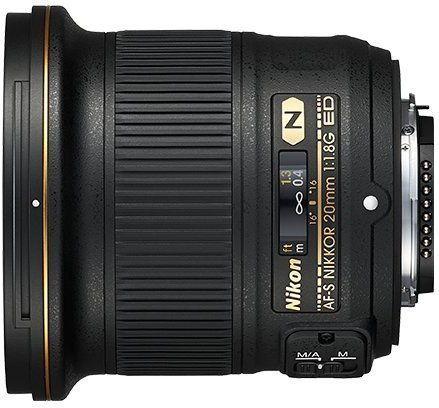 Nikon AF-S Nikkor 20mm f/1.8G ED Czarny